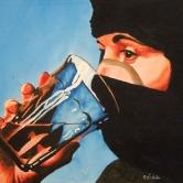 Sahra drinking